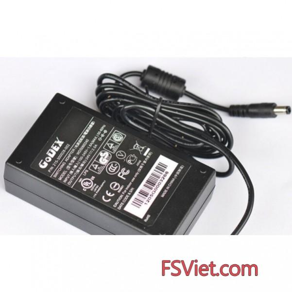 Adapter Máy in mã vạch Godex G500 24V 2.5A chính hãng