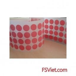 Decal tem tròn màu hồng 3cm