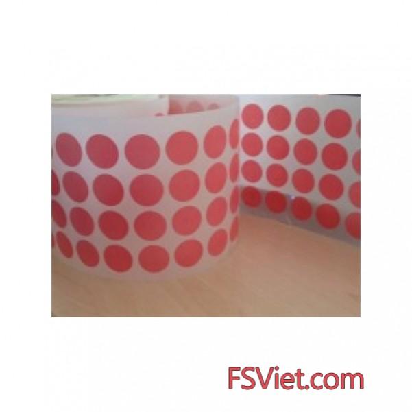 Decal tem tròn màu hồng 3cm chất lượng hoàn hảo