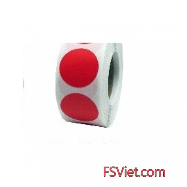 Decal tem tròn màu đỏ 3cm