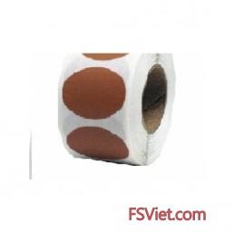 Decal tem tròn màu nâu 3cm