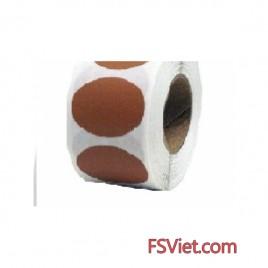 Decal tem tròn màu nâu 3cm giá tốt tại FSVIET