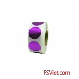 Decal tem tròn màu tím 3cm chất lượng tốt