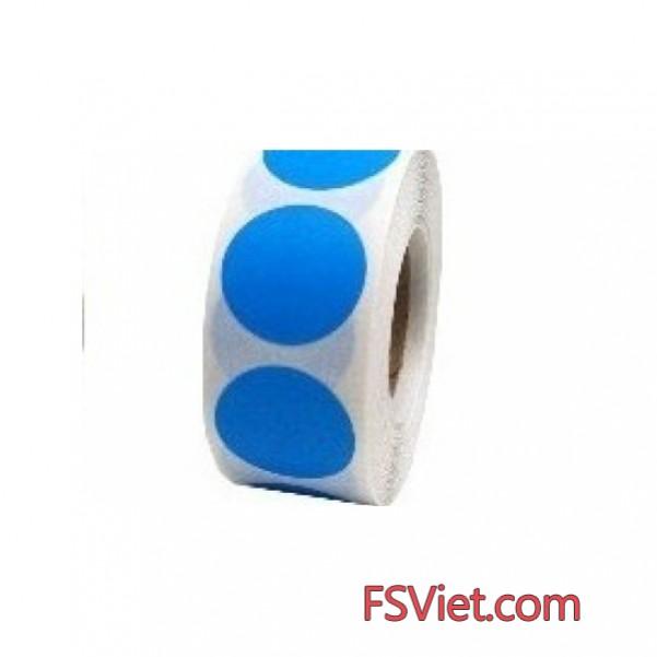 Decal tròn màu xanh Blue 3cm độ bám dính cao