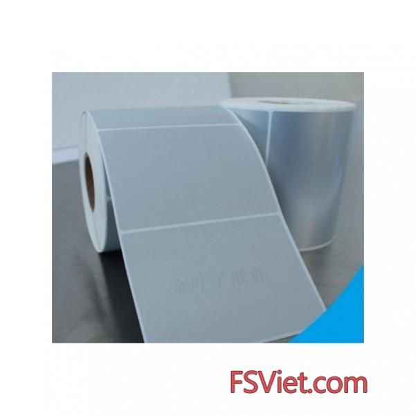 Decal xi bạc (75x180)mm x 50m chất lượng cao