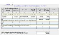 Hướng dẫn cách lập bảng kê hóa đơn mua vào