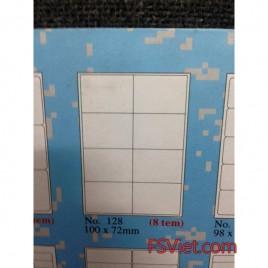 Giấy tomy khổ a4 128 8 tem 100x72mm