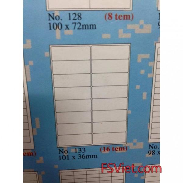 Giấy dính tomy khổ a4 133 16 tem 101x36mm cao cấp