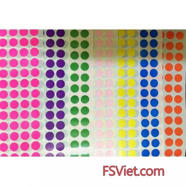 Decal tem tròn 8mm nhiều màu giá tốt nhất hàng sẵn số lượng