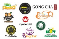 100 mẫu thiết kế logo trà sữa đẹp và dễ thương ấn tượng và độc đáo