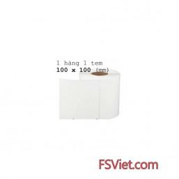 Giấy decal mã vạch 1 tem 100x100mm (tem vuông)