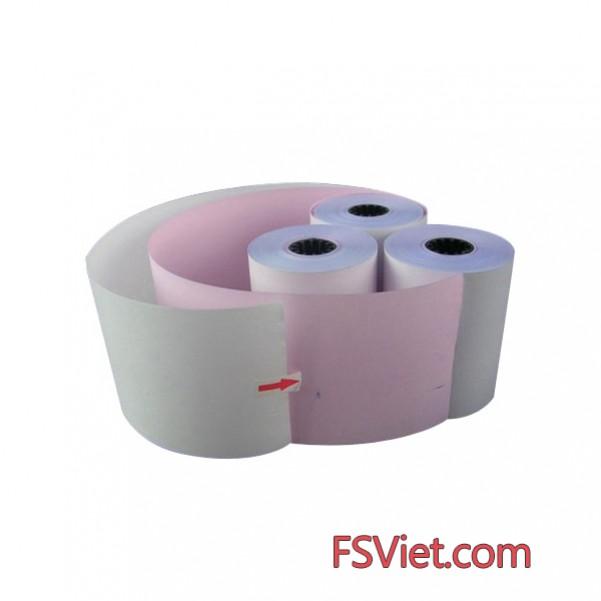 Giấy in hóa đơn k75 2 liên - giấy in carbon 2 liên k75 cho siêu thị,TTTM