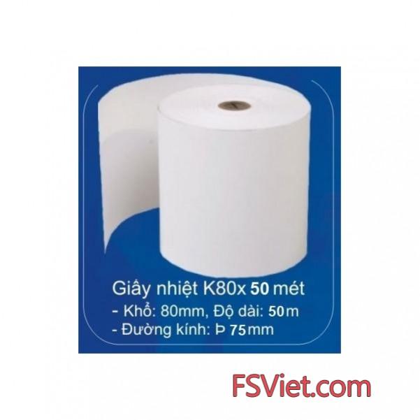 Giấy in nhiệt k80 - Giấy in biil nhiệt k80 tại Hà Nội và TP.HCM