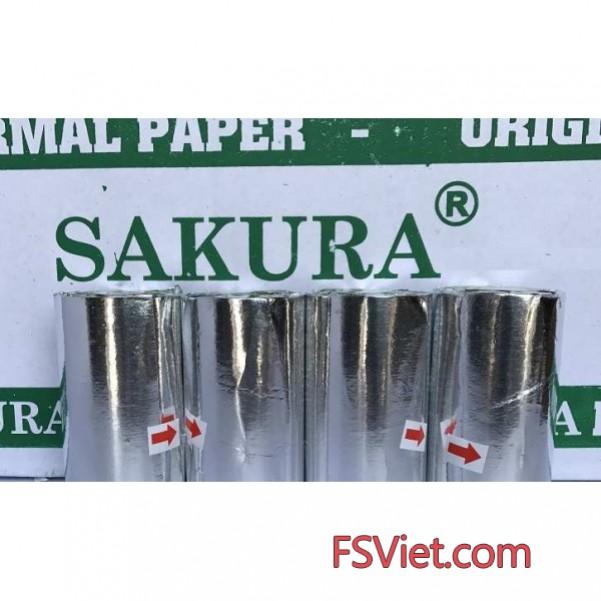 Giấy in nhiệt Sakura k57, k80 chuyên dụng tiết kiệm chi phí tối đa