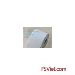 Giấy decal in mã vạch 2 tem 45x35mm