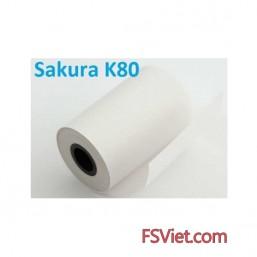 Giấy in nhiệt Sakura K80