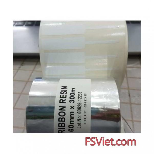 Film mực resin 60mm x 300m in tem vàng PVC,PET, MZ...