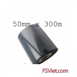 Film mực resin 50mm x 300m in tem vàng PVC, PET, MZ...