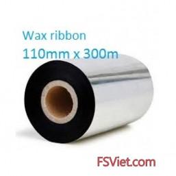 Mực in mã vạch wax 110mm x 300m
