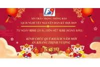 Công ty TNHH FSViet thông báo lịch nghỉ tết Nguyên Đán Kỷ Hợi 2019