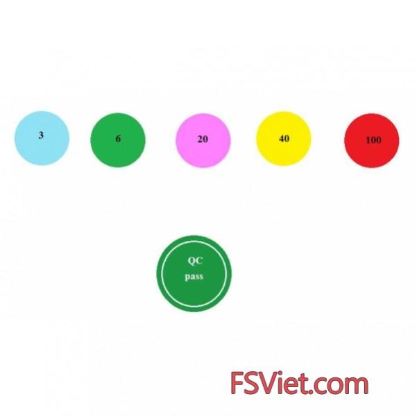 Tem đánh dấu đa dạng kích cỡ màu sắc tiện ích sử dụng