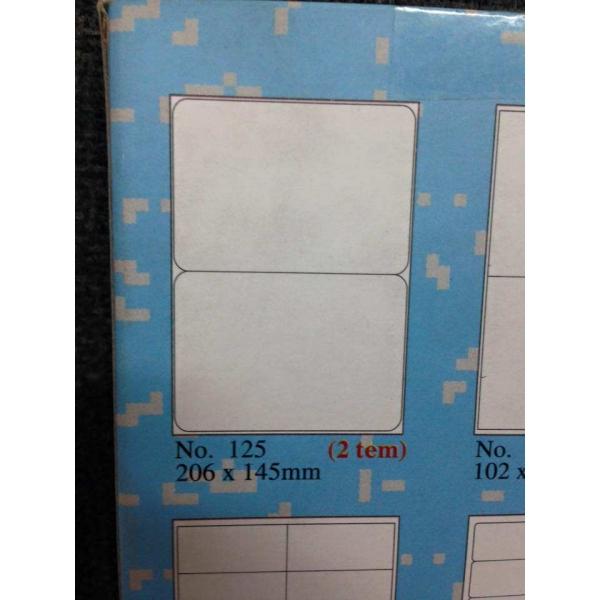 mẫu giấy tomy a4 125 gồm 2 tem 1 tờ