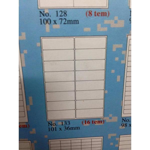 Loại giấy tomy khổ a4 mẫu 133 số tem 16 trên tờ