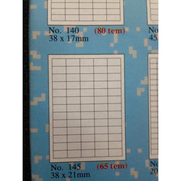 Loại giấy tomy a4 65 tem mãu 145