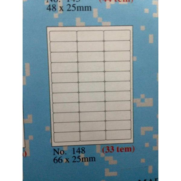 Loại giấy in mã vạch tomy a4 mẫu 148 33 tem 1 tờ