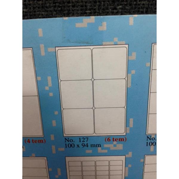 Loại giấy decal tomy a4 gồm 6 tem 1 tờ