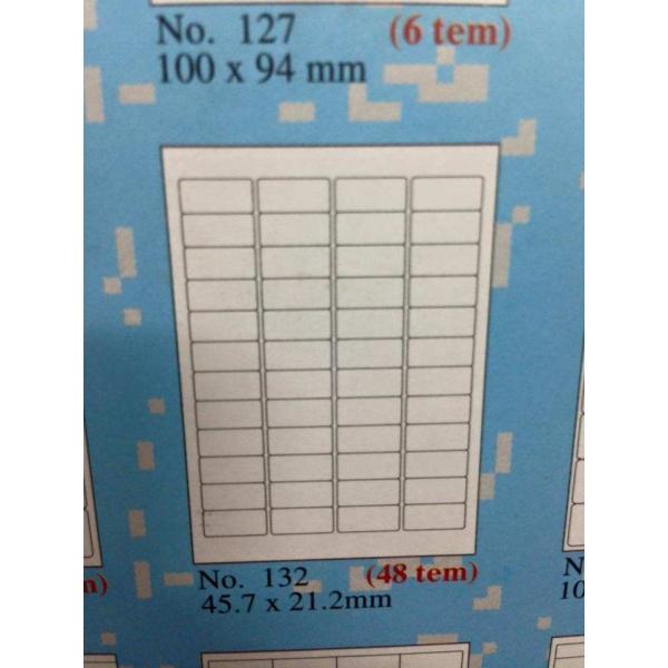 Loại giấy in mã vạch tomy a4 mẫu 132 gồm 48 tem trên 1 tờ