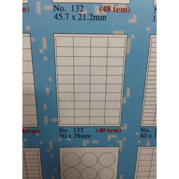 mẫu decal tomy khổ A4 137 gồm 40 tem 1 tờ