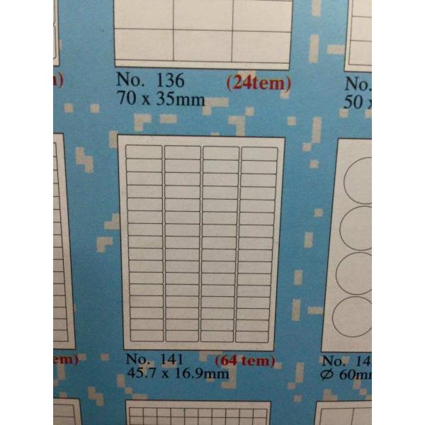 giấy tomy a4 gồm 64 tem trên 1 tờ
