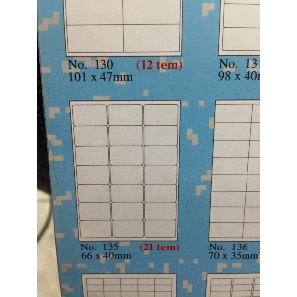 giấy tomy khổ a4 gồm 21 tem trên 1 tờ