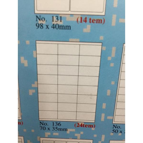 Loại giấy tomy a4 65 tem gồm 24 tem trên 1 tờ