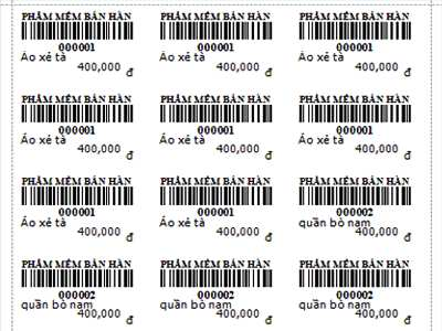 In tem giá sản phẩm - Nhận in gia công bế theo yêu cầu của khách hàng
