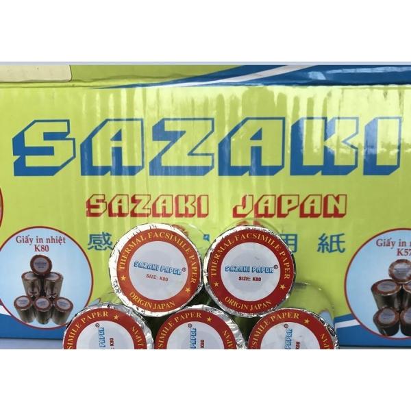 Giá Giấy in nhiệt Sazaki K80 - giấy in hóa đơn nhiệt Sazaki K80 giá tốt tại FSVIET