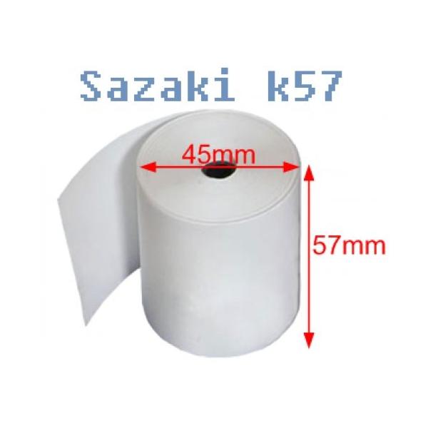 Giấy in nhiệt sazaki k57 - giấy in hóa đơn sazaki k57 đường kính 45mm