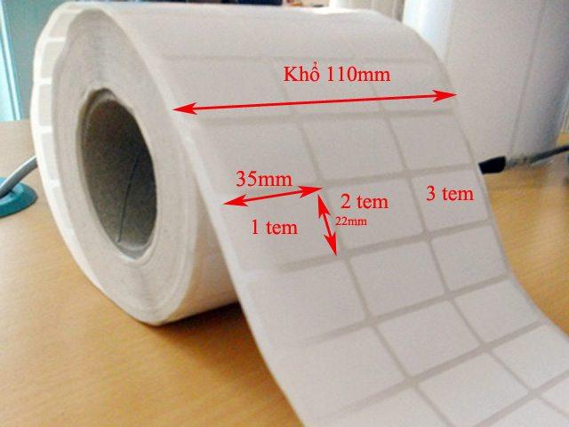 giấy in mã vạch 3 tem 35x22mm