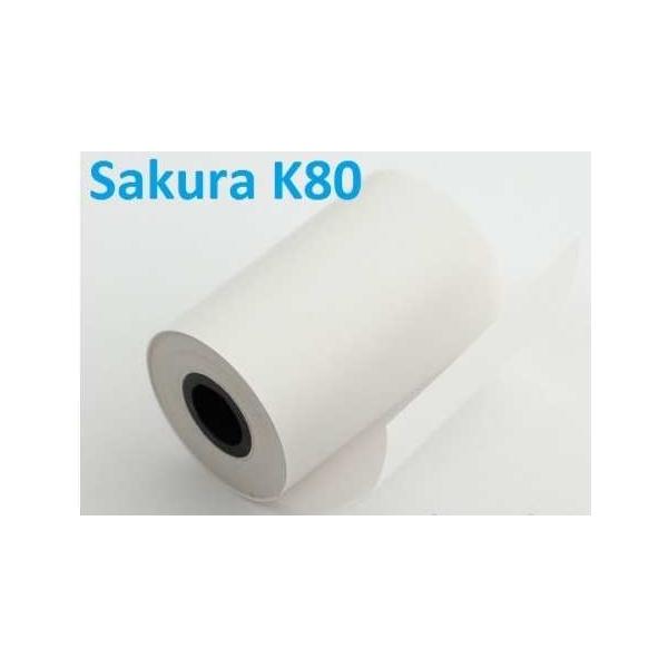 Giấy in nhiệt K80 Sakura chất lượng cao khổ 80x45 tại Hà Nội&Tp. HCM