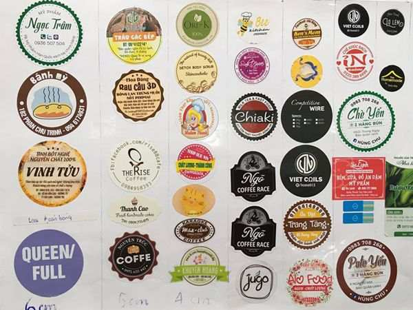 In tem shop cửa hàng giá tốt, hỗ trợ thiết kế, bản in sắc nét chân thực