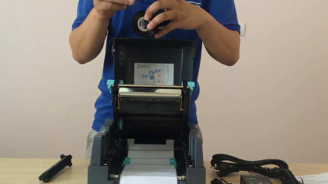 Cách thay decal cho máy in mã vạch godex g500
