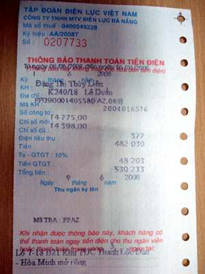 Giấy in hóa đơn điện lực - giấy in bill tiền điện nhập khẩu chất lượng cao