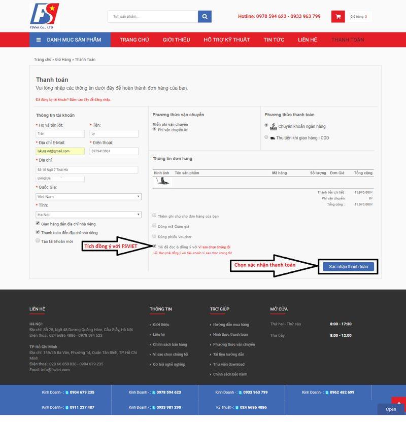 Cách mua hàng trên web fsviet